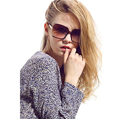New Fashion Women Oversized Square sunglasses UV Protection eye glasses Goggles - Square Women