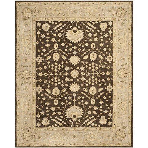 Safavieh Anatolia Collection AN564A Handmade Traditional Oriental Chocolate and Ivory Wool Area Rug (9' x 12')