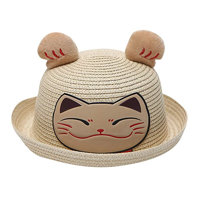 New Fashion Cartoon Colorful Fish Design Children Sun Straw Hats Kids Summer Bucket Cap Girl's Hats