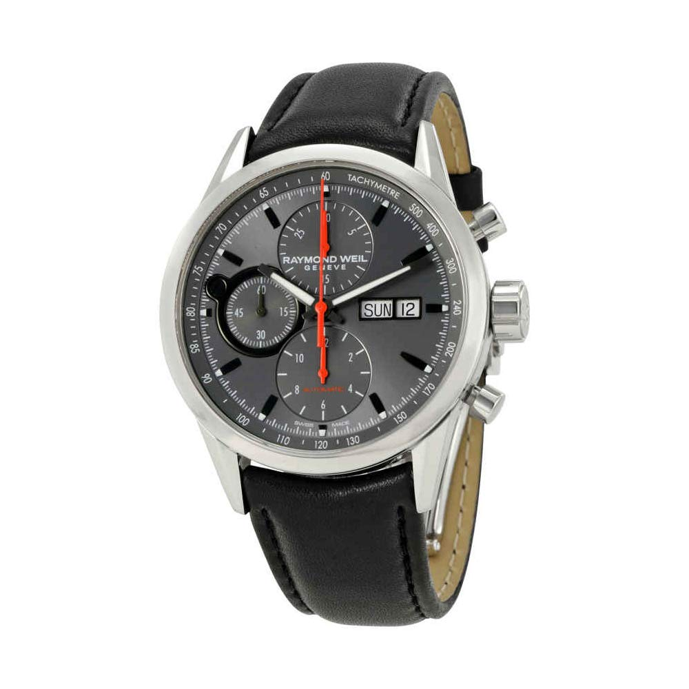 Raymond Weil Men s 7730-STC-60112 Freelancer Analog Display Swiss Automatic Black Watch