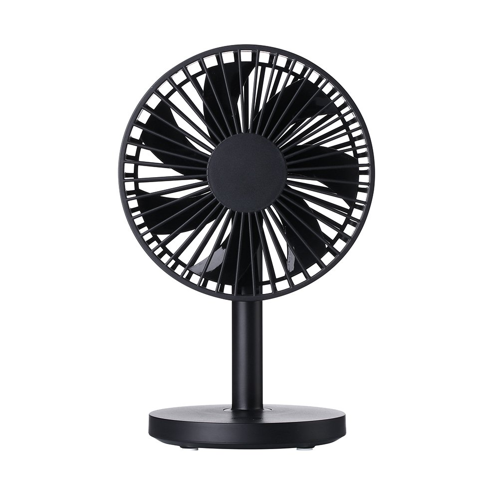abcGoodefg USB Mini Fan Multipurpose Adjustable Angle Table Desk Cooling Fan for Home Office White