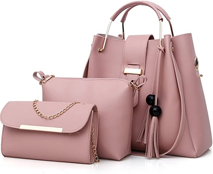 Women Purse and Handbags 3 Pcs Bag Set