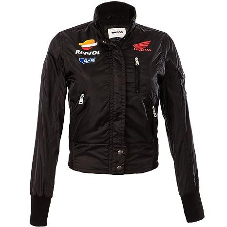 Oficial Honda Gas Repsol Team Moto GP mujer al viento chaqueta negro