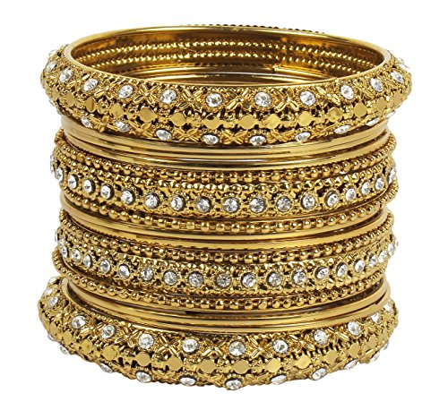 MUCH-MORE Indian Traditional Beautiful Collection Matt Color Bangles for Womens (42, 2.6)