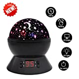 Amazon Price History for:SCOPOW Constellation Night Light Star Sky with LED Timer Auto-Shut Off, 360 Degree Rotation Colorful Moon Night Lamp Gift for Baby Kid Children Bedroom Nursery Decor (Black)
