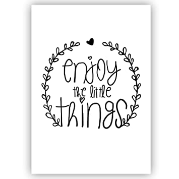 Mausmimi Enjoy The Little Things Din A5 Handlettering