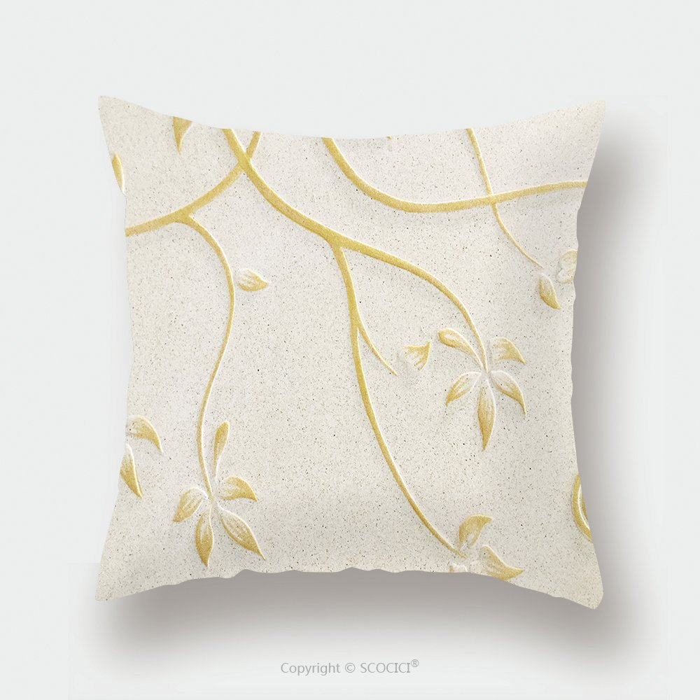 Custom Satin Pillowcase Protector Low Relief Cement Thai Style Handcraft Of Rose Flower 580278880 Pillow Case Covers Decorative by chaoran