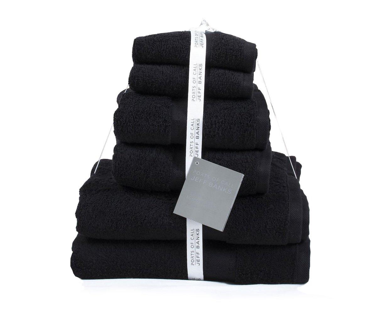 Jeff Banks algodón Egipcio 6 Piezas Toalla Toallas de Lujo contemporáneo 500 gsm: Amazon.es: Hogar
