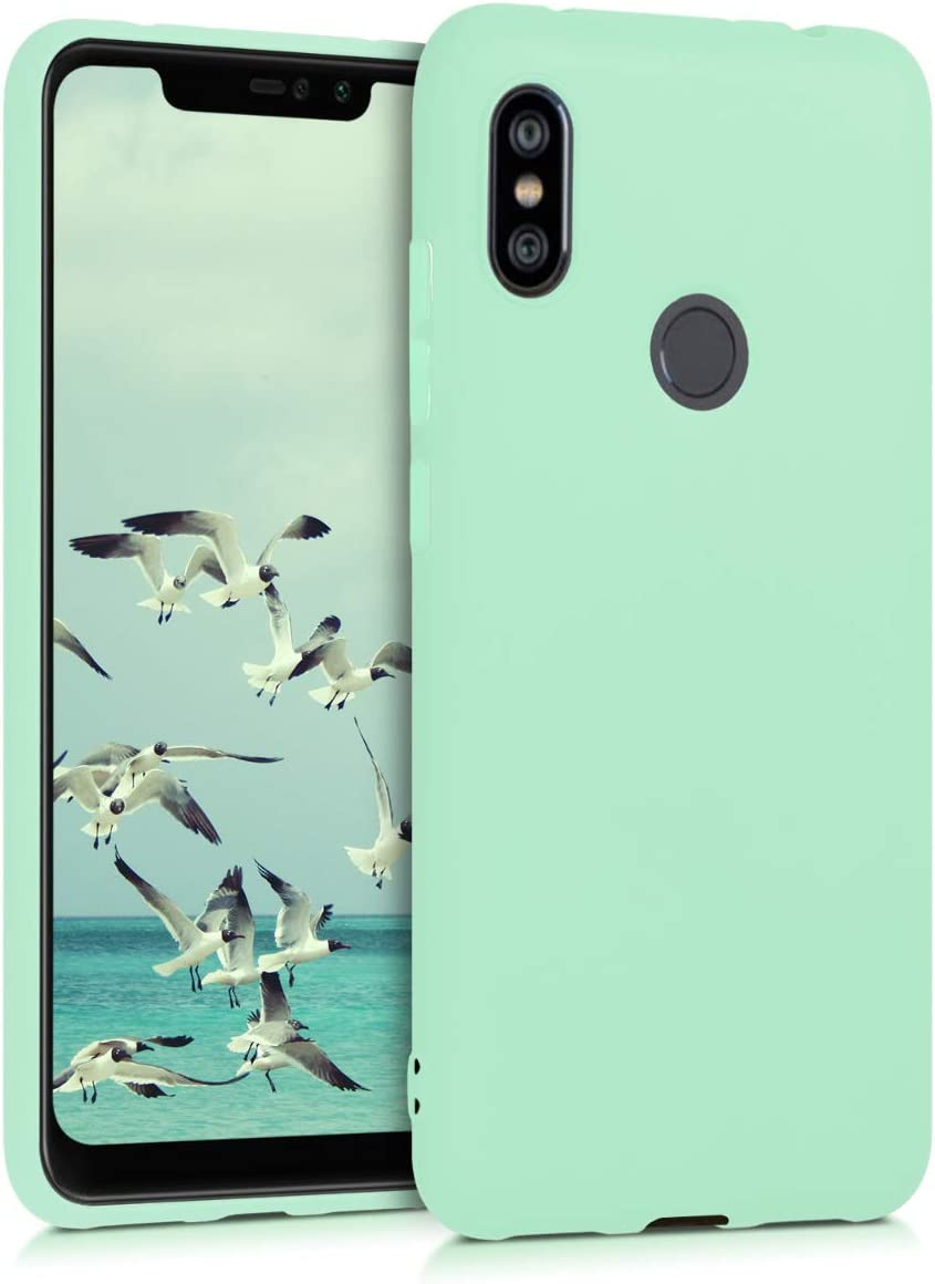 kwmobile Funda Compatible con Xiaomi Redmi Note 6 Pro - Carcasa de TPU Silicona - Protector Trasero en Menta Mate