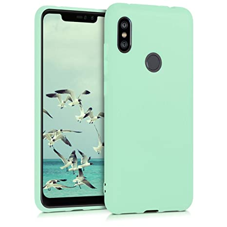 kwmobile TPU Silicone Case for Xiaomi Redmi Note 6 Pro - Soft Flexible Shock Absorbent Protective Phone Cover - Mint Matte