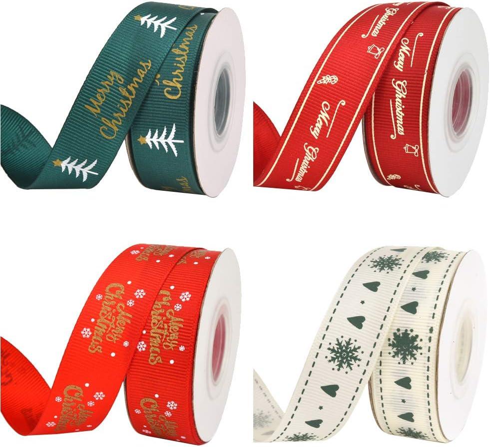 4 stili per regali di Natale confezioni regalo fai da te 4 rotoli di nastri di Natale da avvolgere come regali di Natale per regali di Natale