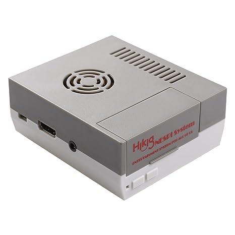 hikig NES Carcasa para Raspberry Pi Model 3,2 y B + Tornillos y destornillador Herramientas incluidas Color Gris y Blanco