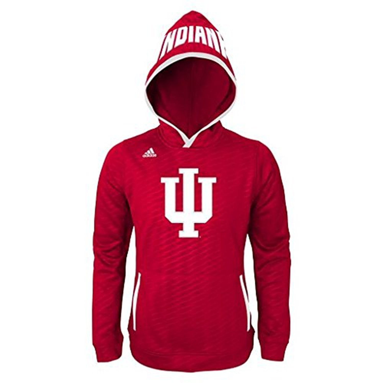 Indiana Hoosiers Adidas Youth Climalite Hoodie M