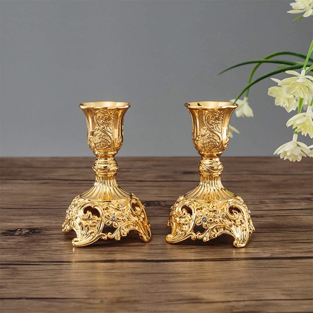candelabros decoraci/ón Elegante para casa o Boda Mentin Candelabro de Mesa de Metal Envejecido para candelabros