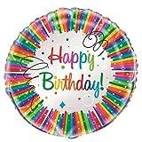 9oz Rainbow Ribbons Birthday, 8ct