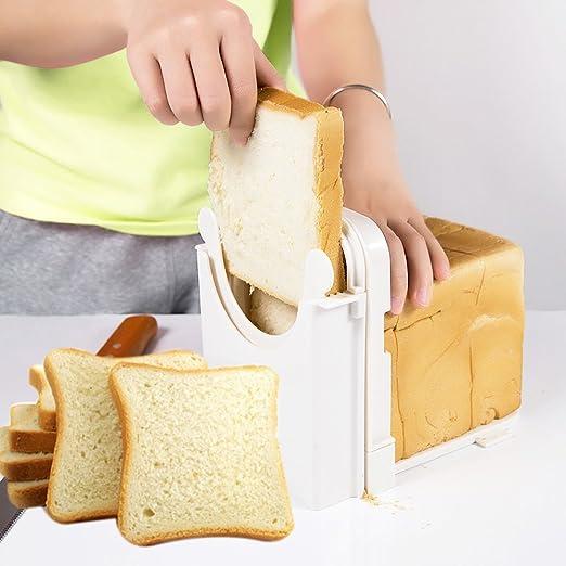Compra Cocina Pan tostado cortador, grosor de corte ajustable molde herramienta de corte cortador de pan estante en Amazon.es