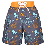 Lullaby Kids Boys Fast Drying Summer Swim Trunks Surf Board Shorts Octopus M