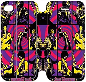 Leather Smart Cover With Flip Stand Phone Case iphone 5 5s-Jimi Hendrix-37