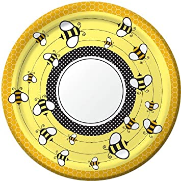 Bee Party Supplies 10quot Paper Banquet Plates