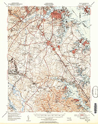 YellowMaps Relay MD topo map, 1:62500 scale, 15 X 15 Minute, Historical, 1947, updated 1954, 20.6 x 16.3 IN - (Landing Duck Cottage)