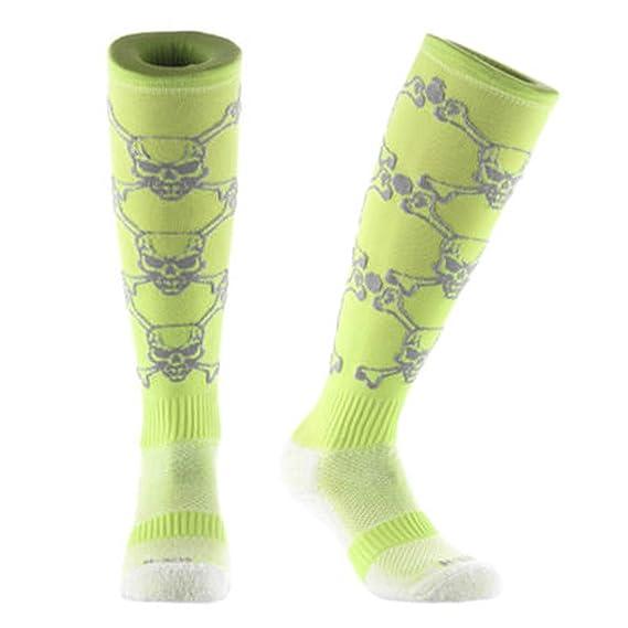 Calcetines unisex hasta la rodilla de Samson Hosiery®, color Detailed Skull, tamaño S