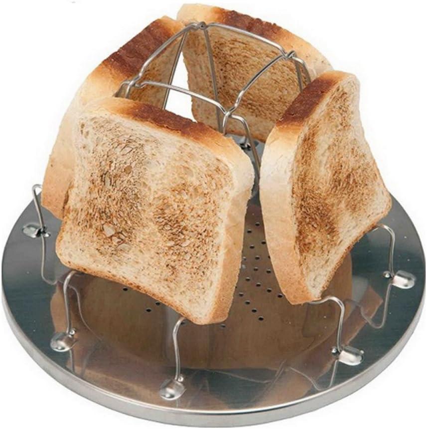 Zaptex 4 Slice Toaster Tray Toast Rack Stove Toaster Stainless Steel Camping Toaster Rack