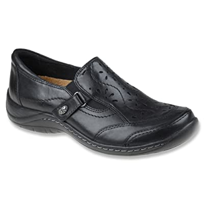 Earth Women's Ginseng Slip On Shoe, Black Calf Leather, US 5.5 M | Shoes