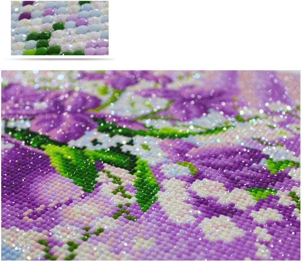 5D DIY Taladro redondo completo Diamante dibujo Punto de cruz Le/ón y mariposa Hada Rhinestone Mosaico Regalos 30x40cm