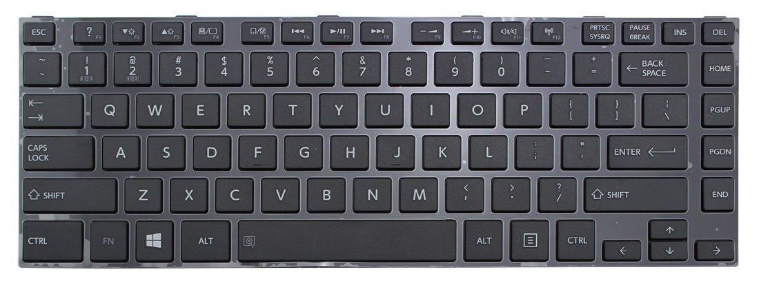 New US Layout Laptop Keyboard with Frame For Toshiba Satellite L40-A L40D-A L45-A L45D-A L40t-A L40-A-021 L40-A-022 L40-A4160FM L40-AT26W1 L40-AT01W AEMTCU00010-US MP-11B23US-920B qinlei