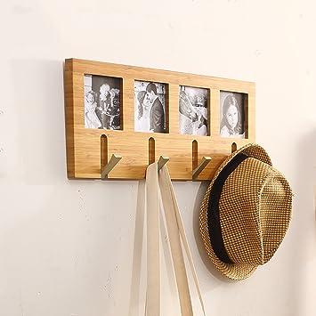 Perchero, estilo europeo de madera maciza, ganchos clave de ...