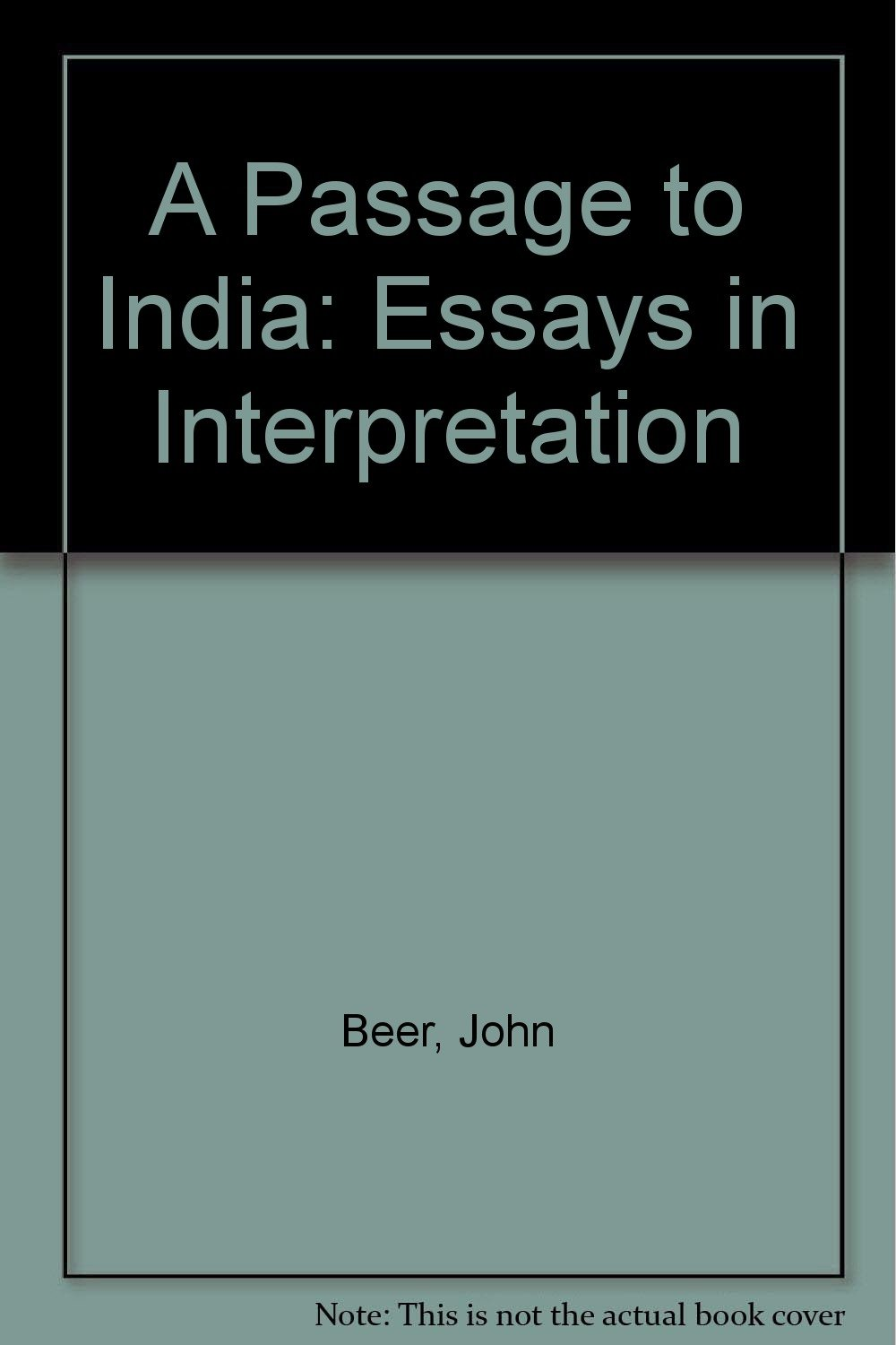 a passage to essay a passage to forster s treatment of  a passage to essays in interpretation amazon co uk john a passage to essays in interpretation