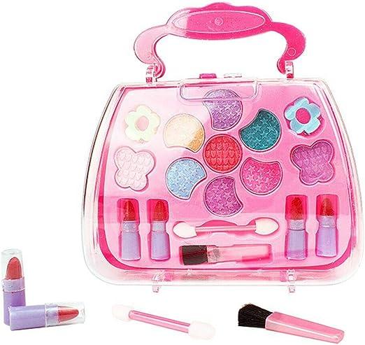 Wechoide Set de Maquillaje para niñas – Juego de Maquillaje para niños de simulación de cosméticos, Caja de Transporte, Juguete para casa de Juegos: Amazon.es: Hogar
