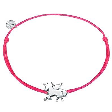 Fin Rose Glanzstücke Argent Licorne Bracelet En Femme München Tissu 80Nmnw