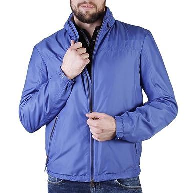 Geox Cazadora para Hombre, Color Azul, Marca, Modelo Cazadora para Hombre Chaqueta Hombre Primavera Azul: Amazon.es: Ropa y accesorios