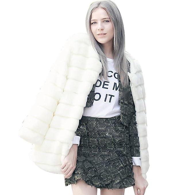 Abrigo de mujer, Ouneed Mujer abrigos de invierno cálido con prendas de abrigo de piel