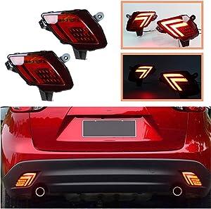 2PCS Kit For Mazda CX-5 2013-2016 Car LED Tail Lamp As Brake Light & Driving Lamp Waterproof Arrow-type