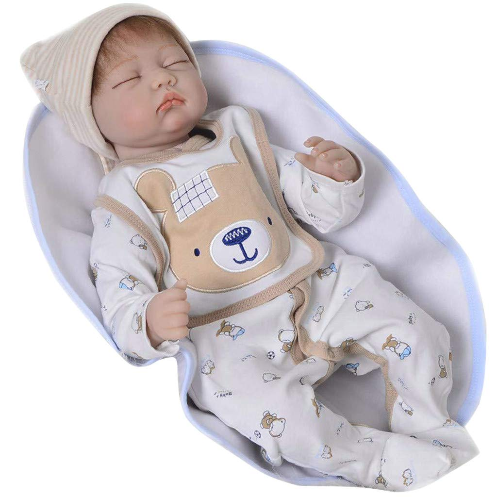 Amazon.com: LtrottedJ Lifelike Lovely Baby Doll 55cm New Doll Kids Girl Playmate Birthday Gift: Toys & Games
