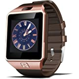 Bluetooth Smart Watch with Camera Touch Screen Smartwatch Unlocked Watch Cell Phone with Sim Card Slot Smart Wrist Watch Fitness Tracker for Android Phones (Rose-Gold)