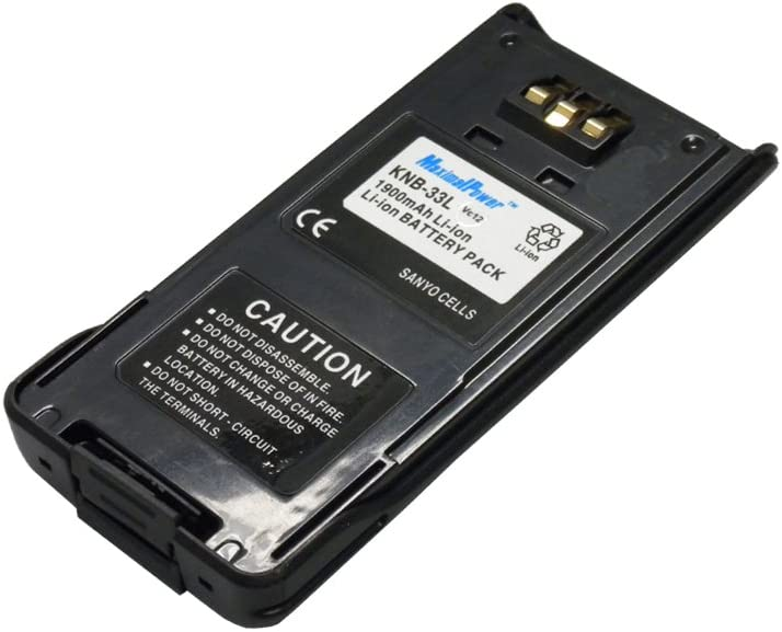 also replaces TK2180-1900 mAh//Li-Ion Kenwood KNB33L Battery Replacement