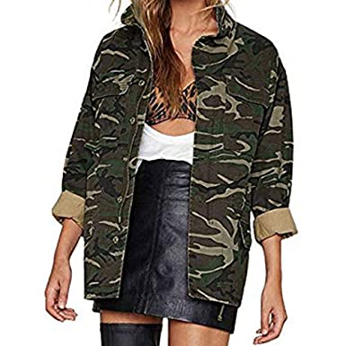 Amazon.com: Womens Camouflage Cardigan,Cenglings Oversized ...
