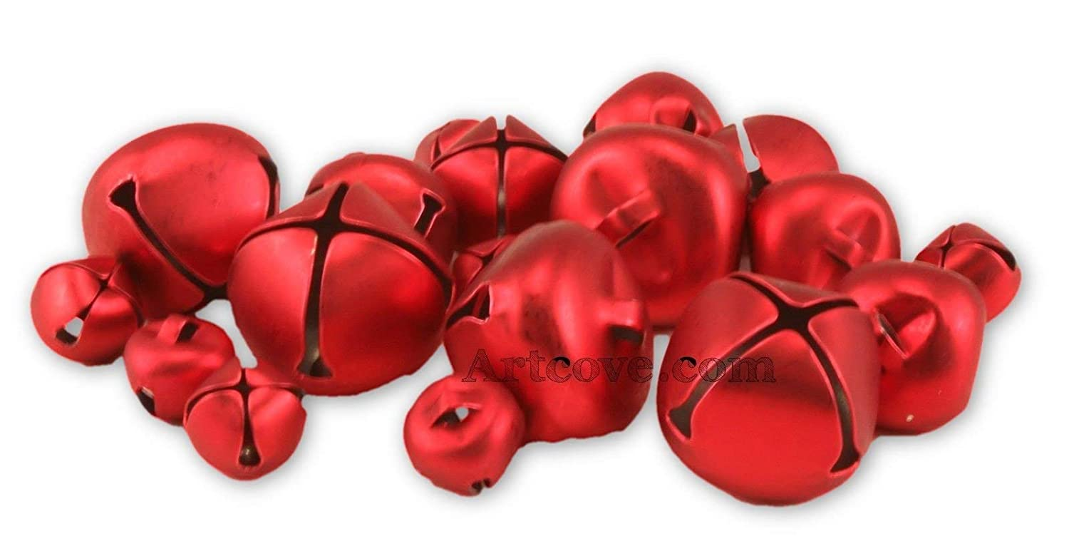 Red Jingle Small Bells Assorted Sizes 1/2, 3/4 and 1 inches 19 Pieces 1099-94 Darice 4336848491
