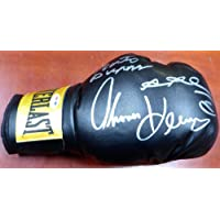 $307 » Boxing Greats Autographed Black Everlast Boxing Glove With 3 Signatures Including Sugar Ray Leonard, Thomas Hearns & Roberto Duran RH…