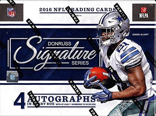 2016 Panini Donruss Signature Series Football 4 Card Hobby Box/Pack (Sealed)