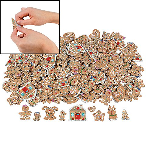 - 500 Fabulous Foam Self-Adhesive Gingerbread Shapes - Religious Crafts & Christmas Crafts