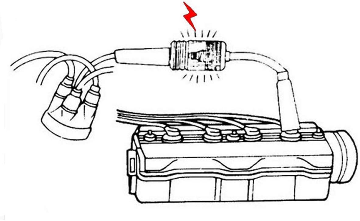 Rainco Inline Spark Plug Tester Engine Ignition Coil Tester Car ...