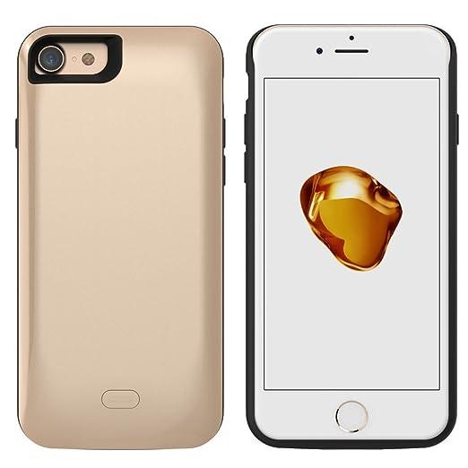 4 opinioni per iPhone 7 Custodia wuloo Batterie Carica batterie 5200 mAh caricatore batteria