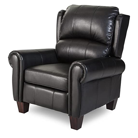 Push Back Style Wingback Leather Recliner