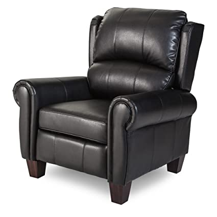 Push Back Style Wingback Leather Recliner For Any Living Room Decor. This  Recliner Is Made