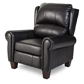 Stupendous Push Back Style Wingback Leather Recliner For Any Living Room Decor This Recliner Is Made With An Luxurious Black Leather Upholstery Traditionally Short Links Chair Design For Home Short Linksinfo