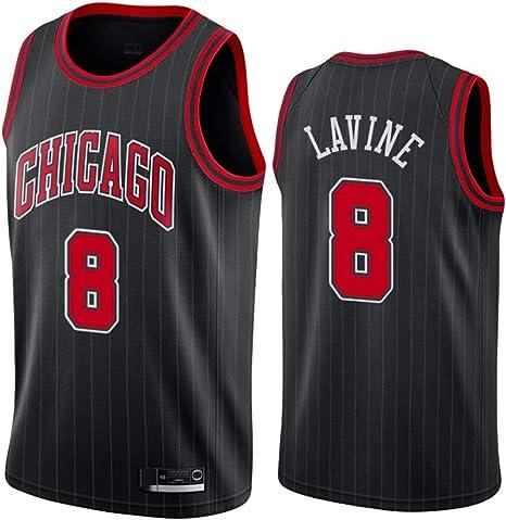 GRYUEN Hombre Mujer Ropa de Baloncesto Chicago Bulls 8# LaVine ...